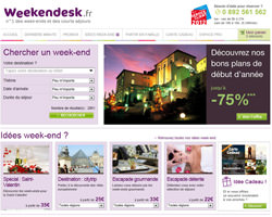 Page d'accueil de Weekendesk