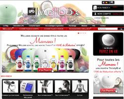 Page d'accueil de Wellbox