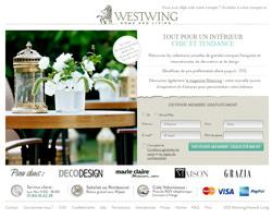 Page d'accueil de Westwing