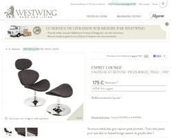 Une fiche produit de Westwing