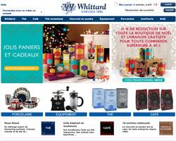 Page d'accueil de Whittard