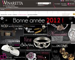 Page d'accueil de Winaretta