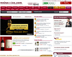 Page d'accueil de Wine and Co