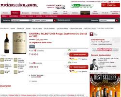 Une fiche produit de Wine and Co