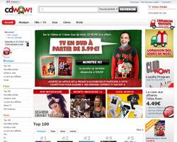Page d'accueil de WOW HD