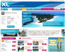 Page d'accueil de XL