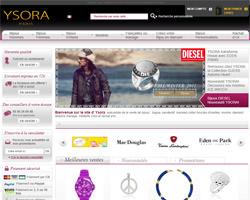 Page d'accueil de Ysora