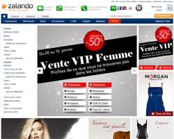 Page d'accueil de Zalando