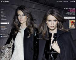 Page d'accueil de Zapa